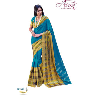Solid Fashion Cotton Designer Saree-AuraNatali-Superfine Cotton Blended-Wedding Wear