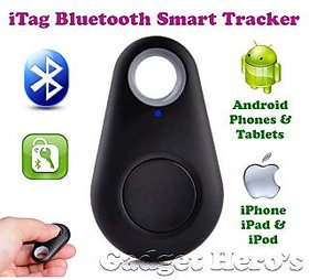 Gadget Heros iTag Bluetooth Tracer Anti-Lost Alarm Remote Shutter Voice Recorder GPS Tracker Black. Key Finder Locator