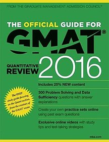 The Official Guide for GMAT Quantitative Review 2016 (English) 2016 Edition