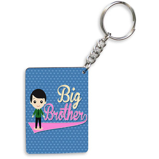 Sky Trends Big Brother With Floral Heart Best Gifts Wooden Keychain