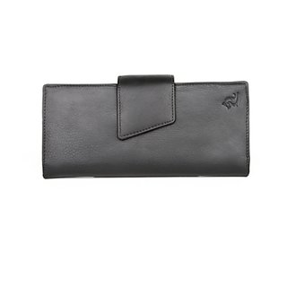 Kara Womens Wallets 8021 Black Card Slots