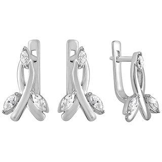 White Cubic Zircon in Silver925 - E525002G