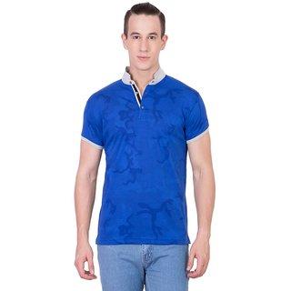 Cliths Mens Blue Cotton Printed T-Shirt HS-168-Blue