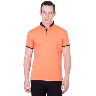 Cliths Mens Orange Cotton Printed T-Shirt HS-169-Orange