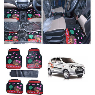 Takecare Car Moc Moc Rubber Floor Mat For Maruti Alto-800