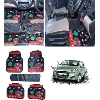 Takecare Car Moc Moc Rubber Floor Mat For Maruti A-Star