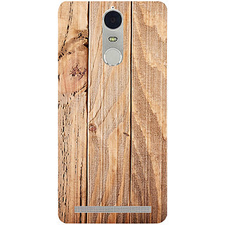 Casotec Wooden Texture Design 3D Hard Back Case Cover for Lenovo K5 Note