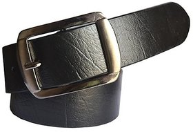 Sunshopping Men Black Leatherite Pin-Hole Buckle Belt