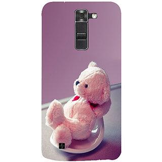 Casotec Cute Teddy Bear Design 3D Hard Back Case Cover for LG K7