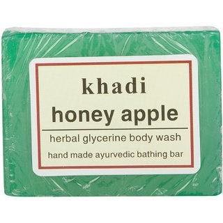 Khadi Hand Made Ayurvedic Bathing Bar  Honey Apple 125 gm