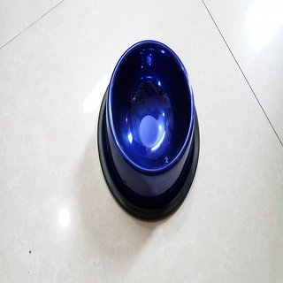 Stylish dog food bowl blue