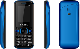 IKall K14   1.8 InchDual Sim 1000Mah Battery(No Earphones) Made In India BlackBlue