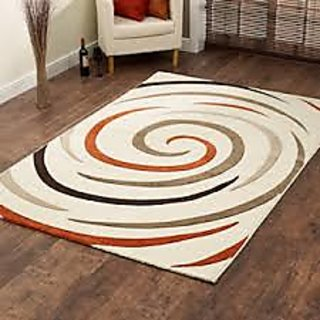 Light Coffee Shaggy Floor Rug 2x5 Feet