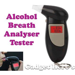 Gadget Heros Alcohol Breathalyzer Tester, Breath Analyzer. Back Lit Digital LCD Display.