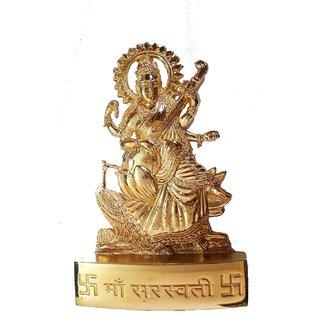 Brass Handmade Maa Saraswati Statue