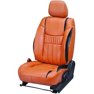 Maruti Celerio orange Leatherite Car Seat Cover