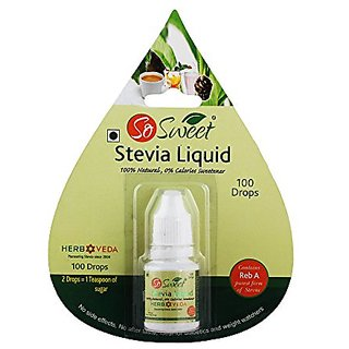 So Sweet Stevia LiquidPack of 3-300 Drops 100 Natural Sweetener Sugarfree