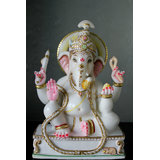 White Marble Statue Of Lord Ganesha