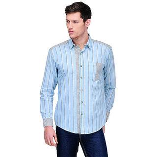 Yepme Roger Stripes Shirt - Light Blue