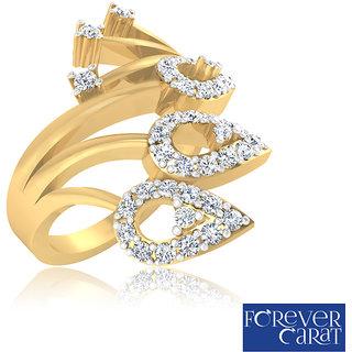 Certified 0.36ct Natural White Diamond Ring 14k Hallmarked Gold Ring LR-0292