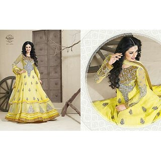 7eac07352733 Ambika yellow Designer dress material Prices in India- Shopclues ...