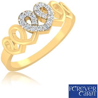 Certified 0.11ct Natural White Diamond Ring 14k Hallmarked Gold Ring LR-0297