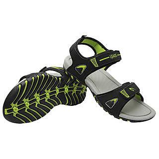 de7eb4af7eb0 Buy Aqualite Leads Men Black P.Green Sandals (Star-11-Blk-P.Grn ...