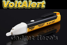 Gadget Heros Non Contact Voltage Alert Pocket Pen 90-1000V Voltage Detector With LED Light Yellow