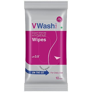 VWash On the Go Expert Intimate Hygiene Wipes - 10s pack 5