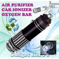 Gadget Heros Mini Car Auto Ionizer Fresh Air Purifier Oxygen Ozone Bar Cleaner Deodorant Black