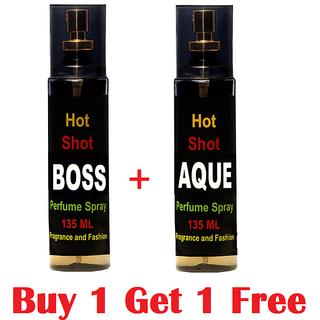 Combo Of 1 Fragrance And Fashion Boss Perfume 135 Ml  1 Aqua Perfume 135 Ml