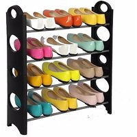 Stainless Steel, Polypropylene Standard Shoe Rack  Blac