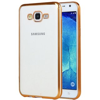 DRaX Electroplated Edge Ultra Thin TPU Flexible Back Case Cover for Samsung Galaxy Grand 2 - Gold