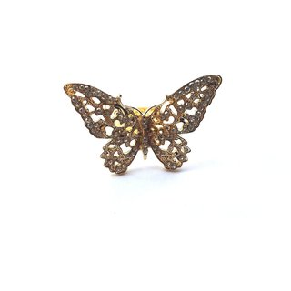 GirlZ! Fashion romantic crystals adjustable butterfly ring