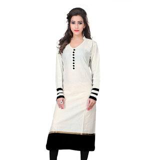 Fabboom New Fancy White Colour Cotton Kurti