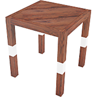 SMALSHOP SawMill Side Table Teak 16 X 16 X 18.5Ht