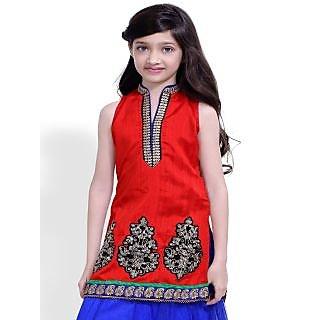 Basil Leaf Self Design Girls Ghagra Choli - BLGC1031