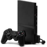 Sony Playstation 2 Ultra Slim Unlocked PS2 Gaming Console With Free 2 Wired Controller  Game DVD