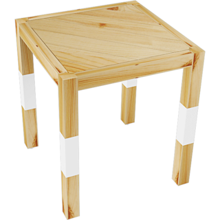 SMALSHOP Pine Wood Side Table- 16 X 16 X 18.5 Ht