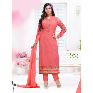 Fabfirki Latest Fashion Designer Semi Stitched Salawar Suit