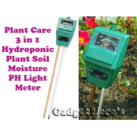 Gadget HeroS Plant Care New 3 In 1 Hydroponic Plants Soil Moisture Ph Light Meter, Tester...