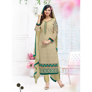 Fabfirki Latest Fashion Designer Semi Stitched Salawar Suit