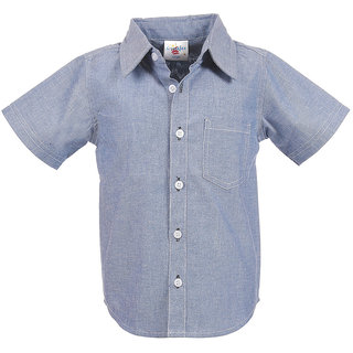 Crackles Blue Striped Shirt for Boys