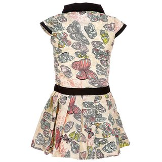 Crackles Multicolor Dress for Girls
