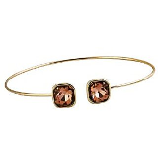 LIGHT PEACH  GLASS SEMI-ADJUSTABLE BANGLE