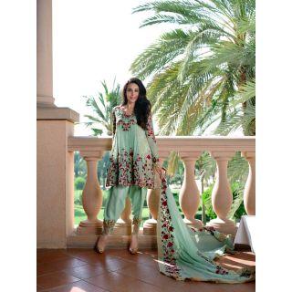 RapidDukan Un-Stitched Violet Colour Salwar Suit Dupatta Material SF717