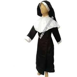 KFD-Nun fancy dress for kids,Our helper costume for Annual function/Theme Party/Stage Shows/competition/Birthday Party Dress