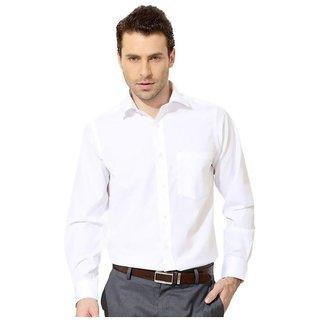 White Formal Regular Fit Shirt