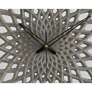 Artemis Cast Stone Round Parametric Grey Wall Dcor clock