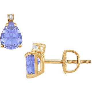 Classic 14K Yellow Gold & Diamond 2.04 Ct Stud Earring